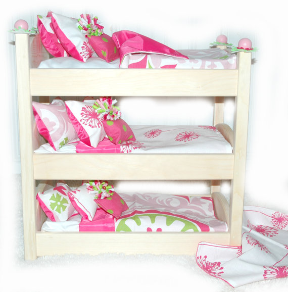 Triple Doll Bunk Bed Make A Wish American Made Girl Doll Bed